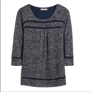 Anthropology Skies Are Blue Heather Popover Knit Blouse